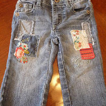 Baby Girls Clothes 24 Months Guess Jeans Adorable Patches Blue Denim Euc Reduced Photo
