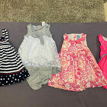 Baby Girls Gap Gymboree Sailor Pink Floral Dresses 12-18 Months Lot of 4 Photo