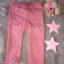 Baby Girls h&m 9-12 M Pink Jeans Elastic Waist Photo