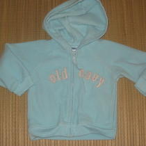 Baby Girls Old Navy Aqua Fleece Zip Up Hoodie Jacket 18-24 Months M Photo