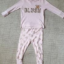 Baby Girls Pyjamas 12-18 Months. George. Children in Need. Blush. Pink Gold.  Photo