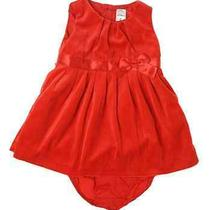 Baby Girls Red Dress Velour Valentines Day Dressy 6 Months   Photo