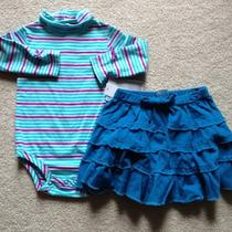 Baby Girls Stripe Aqua Teal Outfit Size 12 Months by Koala Kids Photo