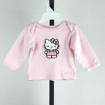 Baby Girls Top Shirt Cute Bow Basic Hello Kitty 3-6 Months Pink Photo