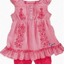 Baby Guess Baby Girl Embroidered Tunic With Bike Shorts Red 12mon Photo