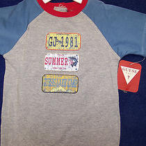 Baby Guess Boys 6/9 mo.greydenim Blue Sleevered Neck Band3 Patch Applique  Photo