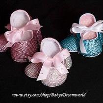 Baby Handmade Swarovski Crystal Ballet Shoes (0-12months) Photo