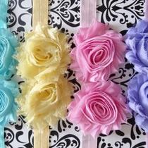 Baby Headbands Set Lot Girl Headbands Spring Colors Aqua Lavender Pink Yellow Photo