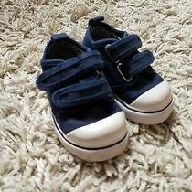 Baby/infant Size 5 Baby Gap Navy/white Sneakers Shoes Preowned Photo