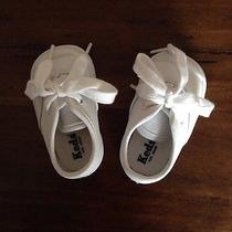 Baby Infant White Leather Keds Size 1 Photo
