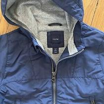 Baby Kids Gap Boys Size 3t Navy Blue Lined Hooded Rain Jacket Lightweight Coat Photo