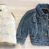 Baby Lot of 2 Jacket & Vest 12 Months & Up Old Navy Puffy Vest Gap Jean Jacket Photo
