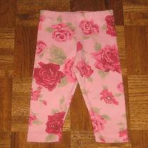 Baby Lulu Baby Girls Red Pink Roses Leggings 9 12 Months Photo