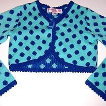 Baby Lulublue Long-Sleeve Sweater Shrugpolka Dotgirls Size 8 Photo