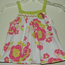 Baby Lulu by Erin Murphy Girls 4 Tank Sleeveless Shirt Tank Rosettes Pink Green Photo