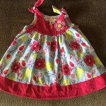 Baby Lulu by  Erin Murphy Girls Pink/blue Floral Dress Size 12 Mth - 100% Cotton Photo