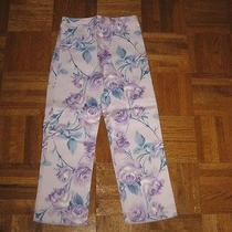 Baby Lulu Girls English Rose Lavendar Pants Sz 6 Photo