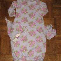 Baby Lulu Girls Lavender Roses Bunting Gown Set 0 3 6 Mths Photo