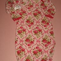 Baby Lulu Girls Pink Roses Bunting Gown & Beanie Set 0 3 6 Mths Photo
