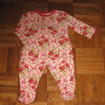 Baby Lulu Girls Pink Roses Romper 6 Mths Photo