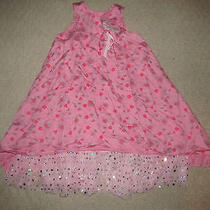 Baby Lulu Girls Pink Sleeveless Floral Print Dress Sz 5 Photo