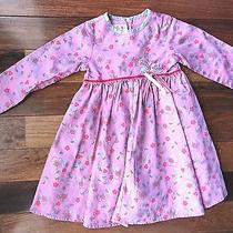 Baby Lulu Girls Size 5 Pink Floral Long Sleeved Butterfly Special Occasion Dress Photo