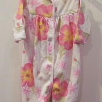 Baby Lulu Newborn One Piece Cotton Pink Floral  Snap Crotch Photo