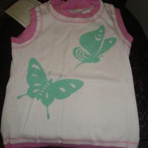 Baby Lulu Pink Butterfly Layered Top Size 7 Photo