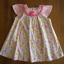 Baby Lulu Pink Short Sleeve Floral Print Dress for Baby Girls Size 12 Months  Photo