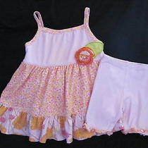Baby Lulu Pink Yellow Floral Outfit 18 Months Photo