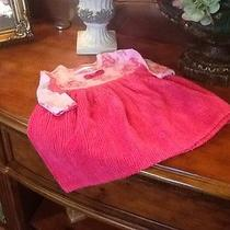 Baby Lulu Red Roses Floral and Chenille Tea Dress Size 12 Months Photo
