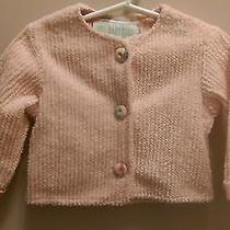 Baby Lulu  Sz 12 Momths Pink Peach Chenille Jacket Cardigan Girl  Photo