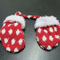 Baby Mittens From Avon  New  Red With White Cuff for Christmas Photo