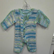 Baby One Piece Suit Hand Crocheted Photo