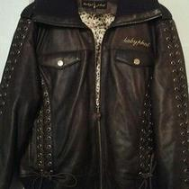 Baby Phat Antique Brown Leather Jacket Photo