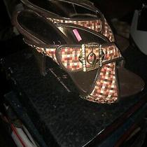 Baby Phat Basket Weave Stilettos Mules Platform Heels Prom Party Shoes Women 8m Photo
