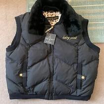 Baby Phat Black Faux Fur Collar Gilet Size 2xl Bnwt Photo