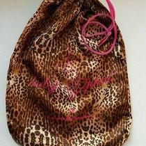 Baby Phat Cheetah Satin Drawstring Tote Travel Bag Lingerie Accessory Delicates Photo