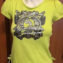 Baby Phat Girl Child Lime Green Shirt Silver Logo Large 8 10 12  Photo
