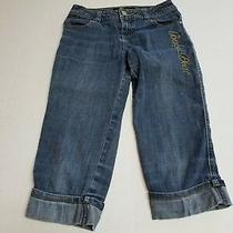 Baby Phat Girls Blue Denim Capri Cuffed Bottom Jeans Size 12 Pre-Owned   Photo