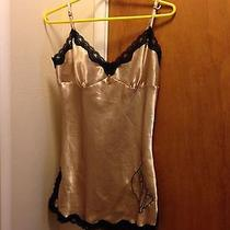 Baby Phat Gold / Black Lace Chemise & G String Set Med Photo
