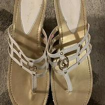 Baby Phat Gold Ivory Bling Sandals Size 10. Logo Sandals Sequin Photo