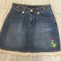 Baby Phat Jean Skirt Girlz Size 16 Cute & Well-Made Nice Buttons Photo