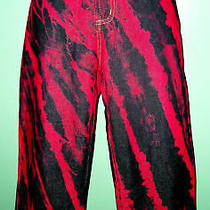 Baby Phat Painted Red Capris 9 Awesome Must See Sale Photo