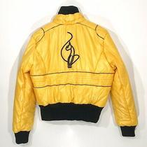 Baby Phat Vintage Puffer Jacket Juniors Xl Yellow Rare Euc Photo