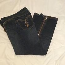 Baby Phat Women Jean Zipper Crops Size 5 Euc Photo