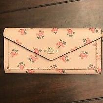 Baby Pink Floral Coach Leather Wallet Photo