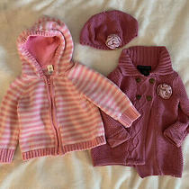 Baby Pink Sweaters Lot 6-12m Gap Cynthia Rowley  Photo