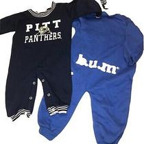 Baby Set of 2 Boy One Piece Bodysuit Pitt Panthers & Bum Baby Thick Blue 12 M Photo