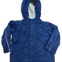 Baby Toddler Boy's Rei E1 Elements Blue Rain Jacket Coat Size 12 Months Full Zip Photo